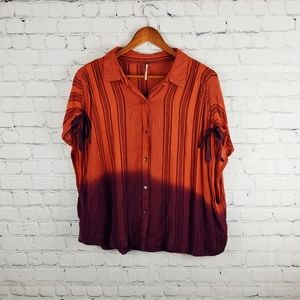 Free People Button Down Top Size Lg